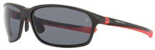 Tag Heuer Sport Sunglasses TH6022 27° 102 Matte Black/Red 6022
