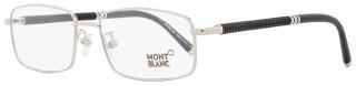 Montblanc Rectangular Eyeglasses MB396 016 Size: 55mm Palladium/Matte Black 396