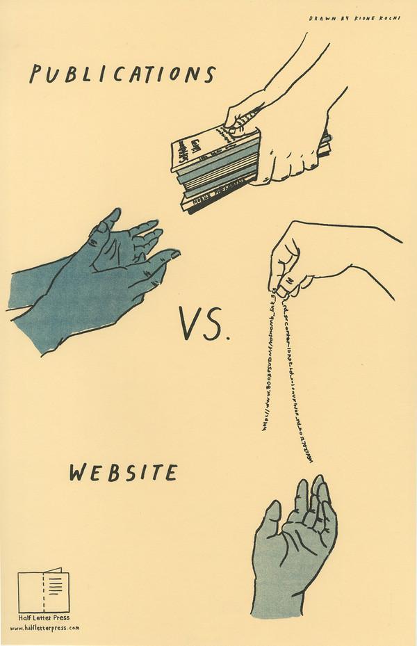 Publications VS. Website poster