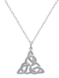 Celitc Knot Triangle Pendant Sterling Silver