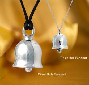 Beautiful heavy cast sterling silver bells.