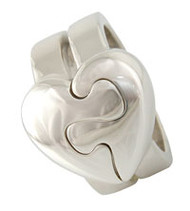 Puzzled Heart Ring