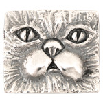 Persian Cat Tag Necklace or Brooch