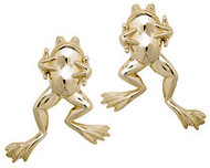 """Who Me"" Frog Earrings"