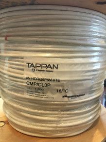 Plenum RG6 Cable SDI CMP 75 Ohm Tappan Wire AV-HDRG6P 1000FT