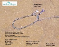 Awareness Ribbon bracelet