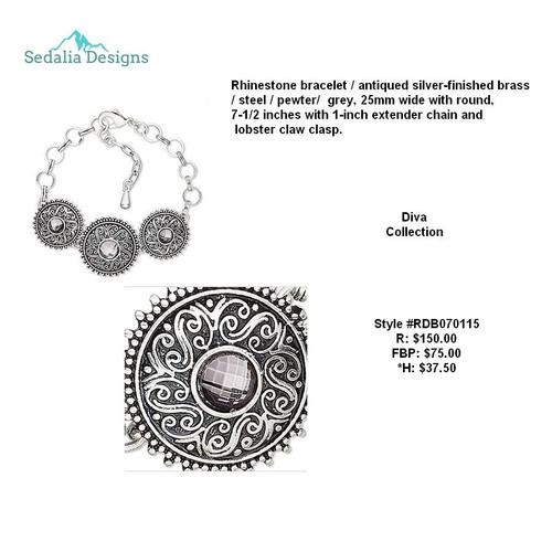 Diva Collection 3-Ornate Disc bracelet