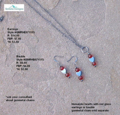 """Rejoice in your heart"" Bauble & Earrings"