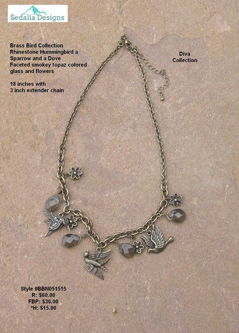 Birds & Flowers Necklace