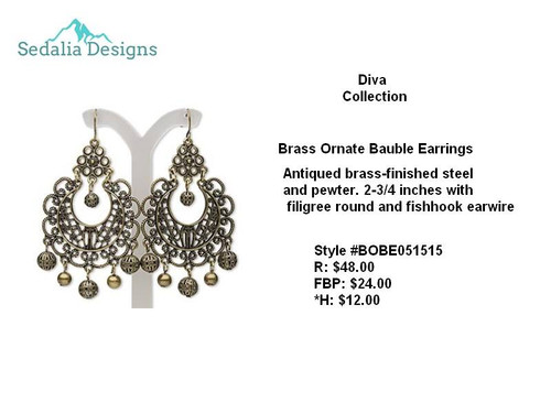 Baroque Brass Filigree earrings