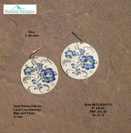 Delft like Earrings