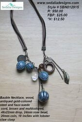 Jeans necklace