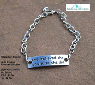 "Affirmation ""She Believed"" Bracelet"
