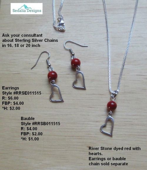 How Red the Heart Bauble & Earrings