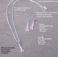 Earrings or Bauble available, chain sold separate.