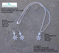 """Let it Snow"" Bauble & Earrings"