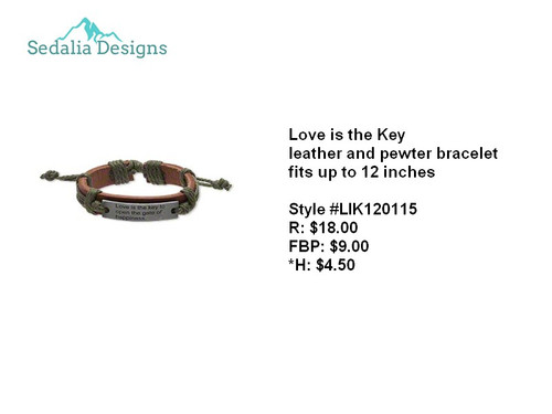 'Love is the Key' bracelet