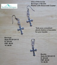 'Vine of the Cross' earrings & baubles