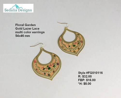 'Floral Garden' earrings