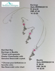 'Rah Rah Ree' Cheerleader Bauble & Earrings