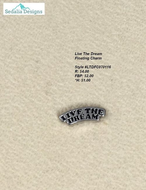 'Live the Dream' charm