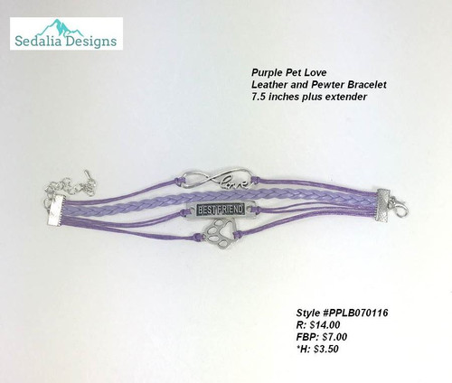 Purple Pet Lover bracelet