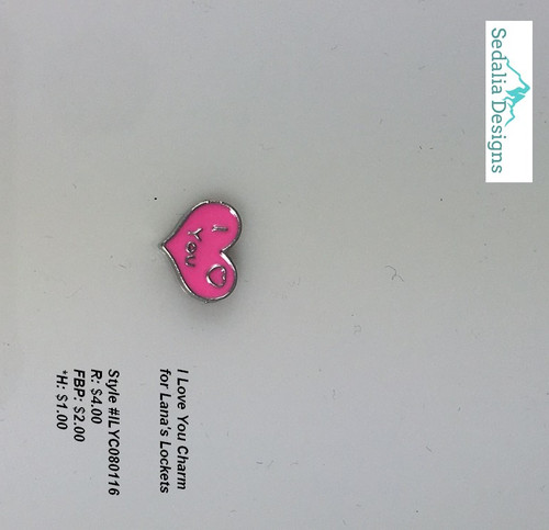 """I Love You"" Heart charm"