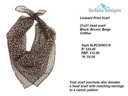 Leopard Scarf, brown