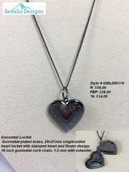 Gunmetal Heart Locket