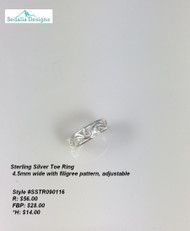 Filigree Toe Ring