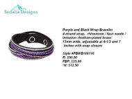Purple & Black wrap bracelet