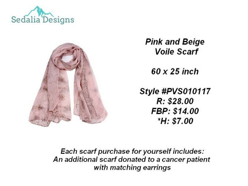 Pink Voile Scarf