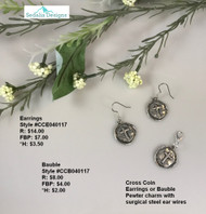 Cross Coin bauble & earrings