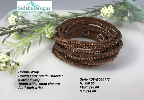Brown Double Wrap bracelet