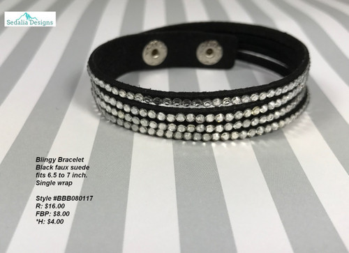 Black Blingy Bracelet