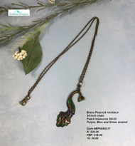 Brass Peacock Necklace