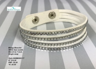 White Bling Wrap Bracelet
