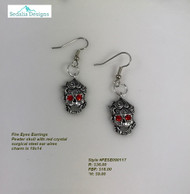 Fire Eyed Skull  earrings