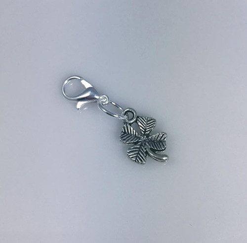 Resell for 6.00 or more   Pewter 4 leaf clover Lobster clasp bauble