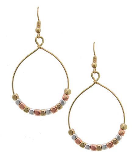 """resell for 21.00 or more ** Multi Tone / Seed Beads / Lead Compliant / Metal Fish Hook / Teardrop / Dangle / Earring Set  •   WIDTH X LENGTH : 1 1/2"""" X 2 1/2""""  •   MULTI  Style #MTHE091917g"""