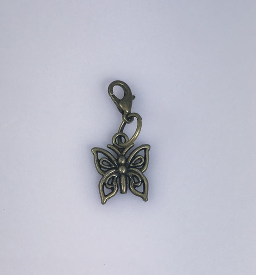 Resell for 6.00 or more Antiqued brass butterfly