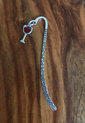 resell for 9.00 or more pewter enameled wine glass bookmark Style #WBM111317g