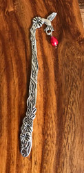 Resell for 12.00 or more Pewter hummingbird red glass pearl Bookmark Style #HBM112117g