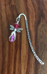 Resell for 9.00 or more Pewter bookmark Pink glass angel Style #PCAB112117g