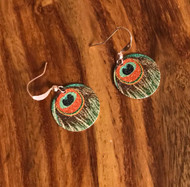 Resell for 9.00 or more Peacock enameled disc Copper earwires Style #CPE112817g