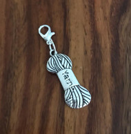 Resell for 6.00 or more Pewter yarn skein Lobster clasp bauble charm Style #YSB121117g