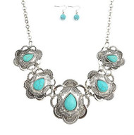 resell for 45.00 or more 16.5 inch with 2.5 inch ext pewter/ turquoise magnesite Style #TMSWNS010918g