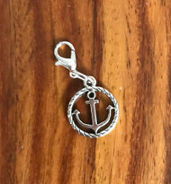 Resell for 6.00 or more Pewter anchor bauble Lobster clasp charm Style #CAB011118g