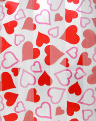 **This purchase will also donate 1 scarf with earrings to a cancer patient**  resell for 21.00 or more White & Red / 100% Polyester / 13 X60: Satin Stripe W/valentine Hearts Scarf Style #RWVHS011718g