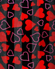 **This purchase will also donate 1 scarf with earrings to a cancer patient**  resell for 21.00 or more Black & Red / 100% Polyester / 13 X60: Satin Stripe W/valentine Hearts Scarf Style #BRPVS011718g
